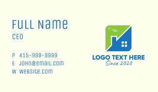 Modern Split House Business Card