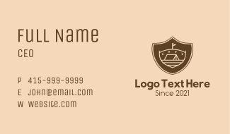 Camp Site Badge Business Card
