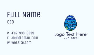 Marine Fish Egg Business Card
