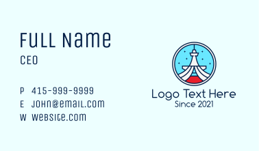 Seattle Tower Badge Business Card