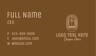 French Press Coffee Business Card