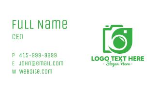 Leaf Camera Outline Business Card