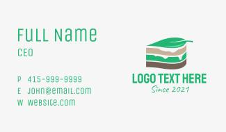 Leaf Cake Slice  Business Card