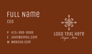 Flower Shop Ornament Business Card