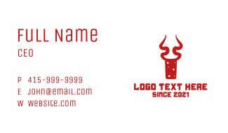 Antelope Cork Bottle Business Card