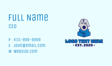 Pliers Tool Mascot Business Card