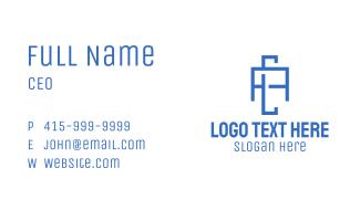 Blue Geometric A & C Business Card