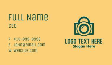 Padlock Camera Photography  Business Card