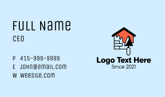 Brick House Painting Business Card