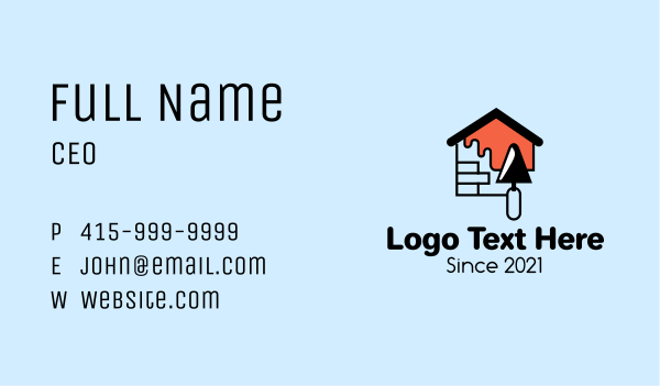 home improvement - Brick House Painting Business card horizontal design