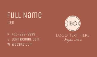 Autumn Badge Business Card