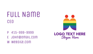 Rainbow Gay Couple  Business Card