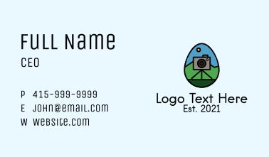 Photo Camera Egg  Business Card
