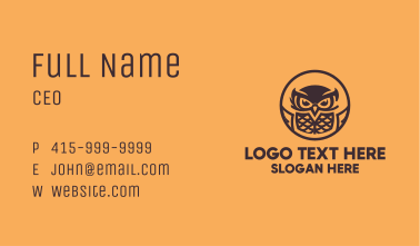 Flying Owl Mascot Business Card