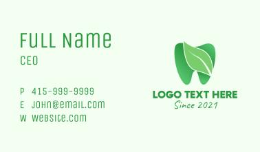 Green Natural Dentist  Business Card