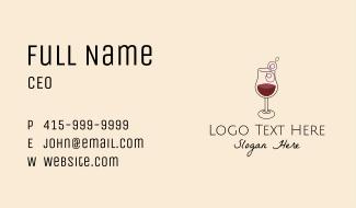 Letter S Grape Wine Business Card