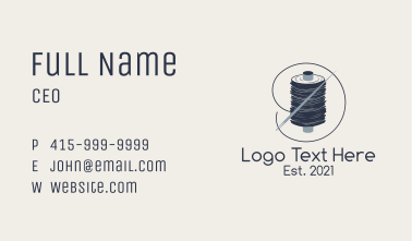 Tailoring Needle Thread Business Card