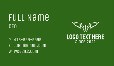 White Airforce Badge  Business Card