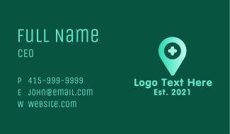 Health c Location Pin Business Card