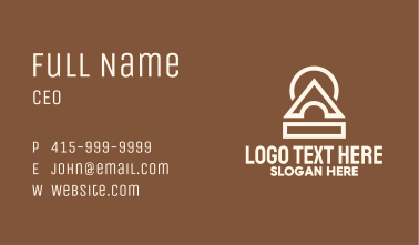 White Temple  Business Card