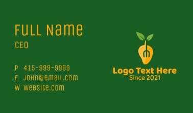 Mango Fork Restaurant  Business Card
