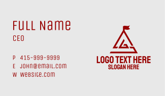 Red A & G Monogram Business Card