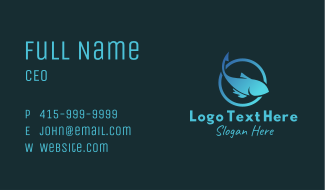 Fish Silhouette Hook Business Card