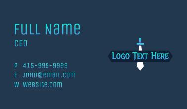 Adventure Game Wordmark Business Card