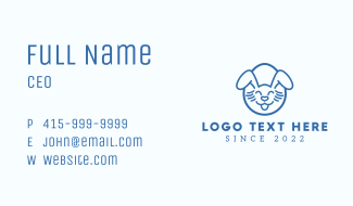 Blue Happy Easter Bunny Business Card