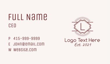 Vintage Template Letter  Business Card