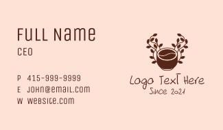 Organic Coffee Cup Business Card