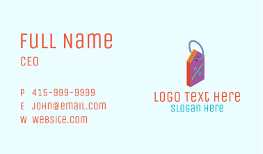 Discount Price Tag Business Card