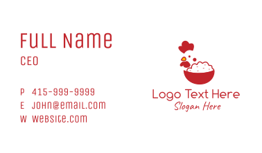 Red Rooster Rice Business Card