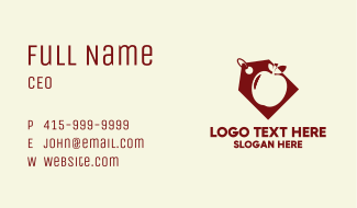 Red Apple Coupon Business Card