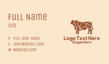 Beef Meat Shop  Business Card