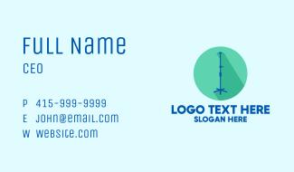 Medical Intravenous Pole Business Card