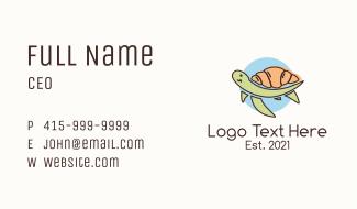 Turtle Croissant Beach Bakery Business Card