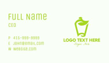 Green Organic Drink Business Card