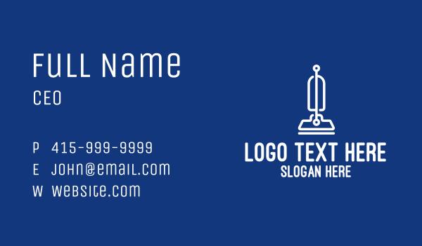 home appliances - White Modern Vacuum Cleaner  Business card horizontal design