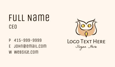 Dove Owl Bird Business Card