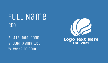 White Wave Shell  Business Card