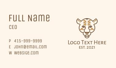 Wild Jaguar Animal Business Card