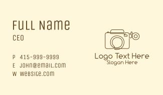 Minimalist Photographer Camera  Business Card