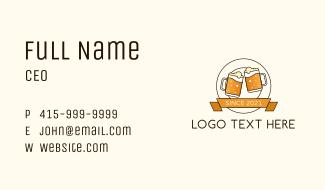 Beer Mug Badge Business Card