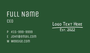 Blackboard Wordmark Business Card