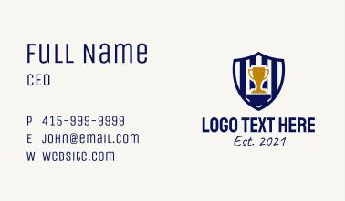 Sports Championship Emblem  Business Card
