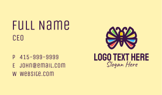 Colorful Butterfly Wings Business Card