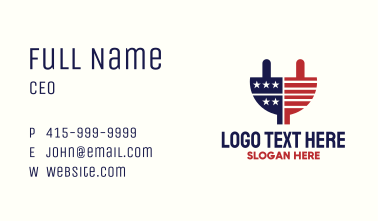 USA Electric Plug Business Card