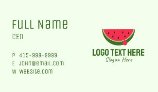 Fresh Watermelon Fruit Business Card
