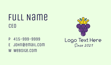 Grapes Crown Business Card